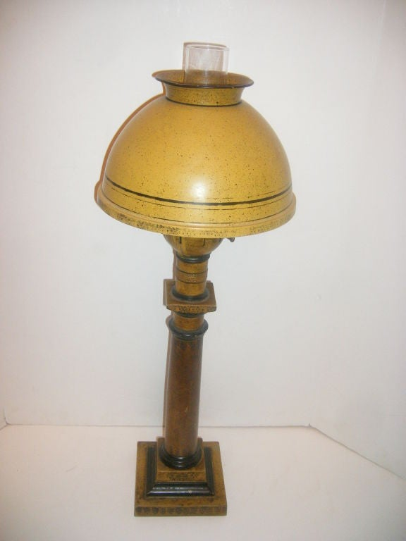 Salt Lamps Etc Lancaster Ny : Yellow Tole Lamp For Sale at 1stdibs