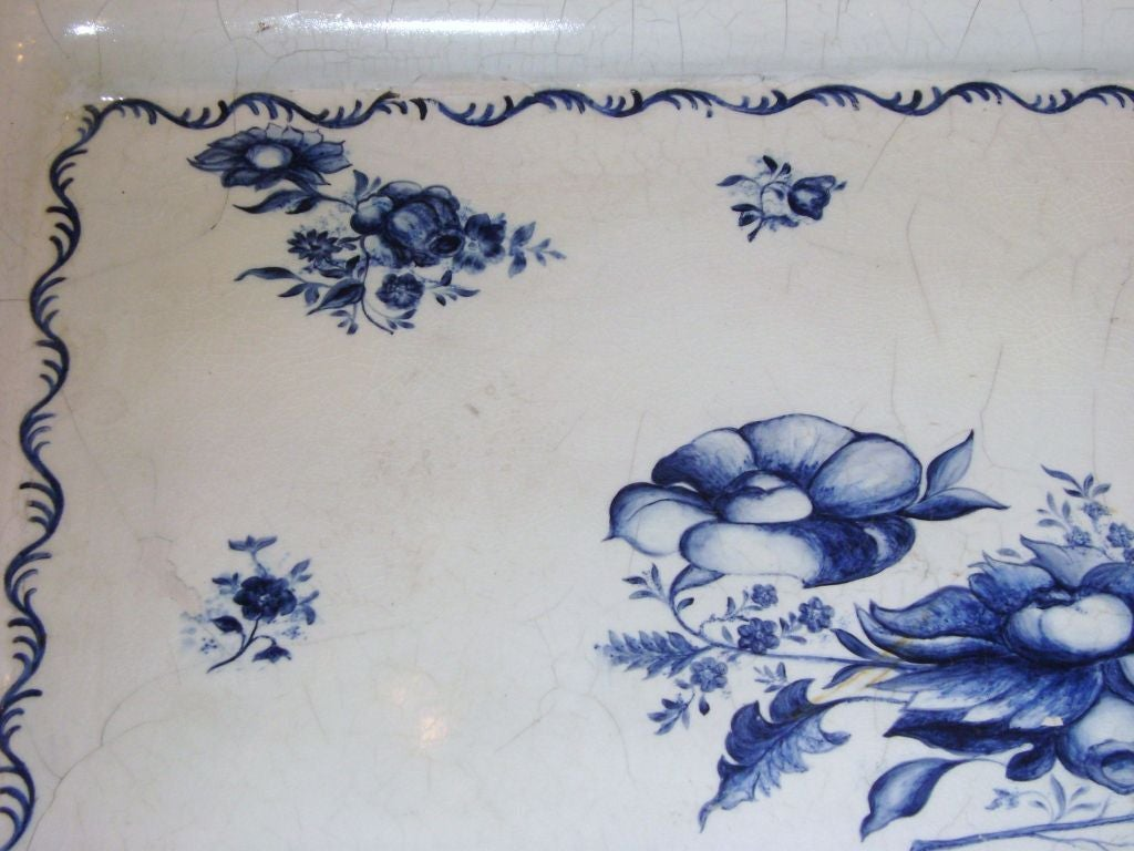 Swedish Blue and White Porcelain Top Table For Sale 3