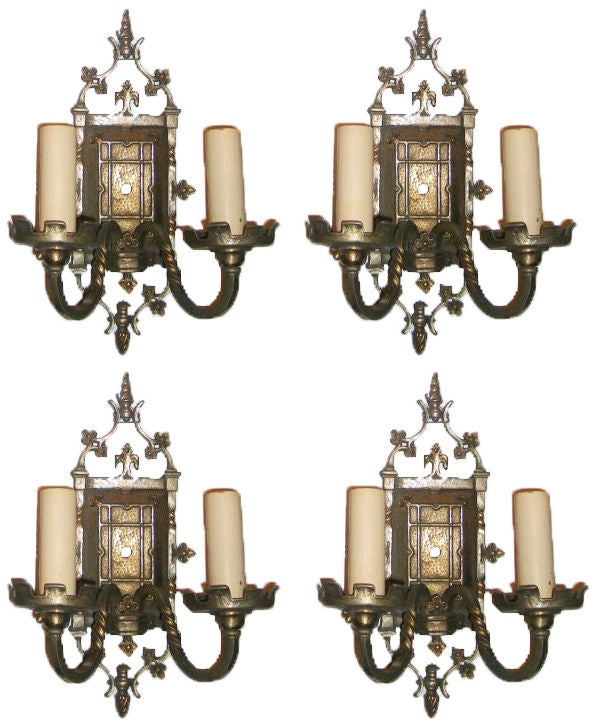Gothic Style Wall Sconces : Set of 4 Gothic Style Sconces For Sale at 1stdibs