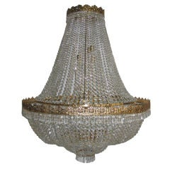 Set of 12 Very Large Crystal Chandeliers