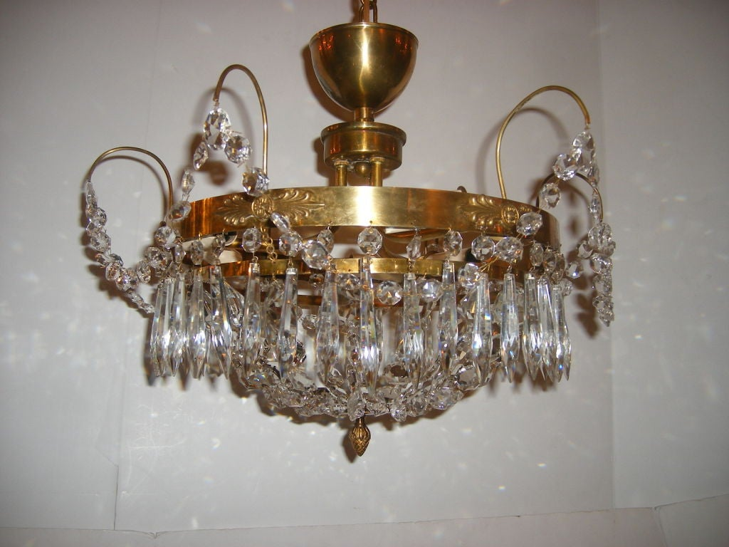 Swedish crystal light fixture for sale at 1stdibs for Swedish light fixtures