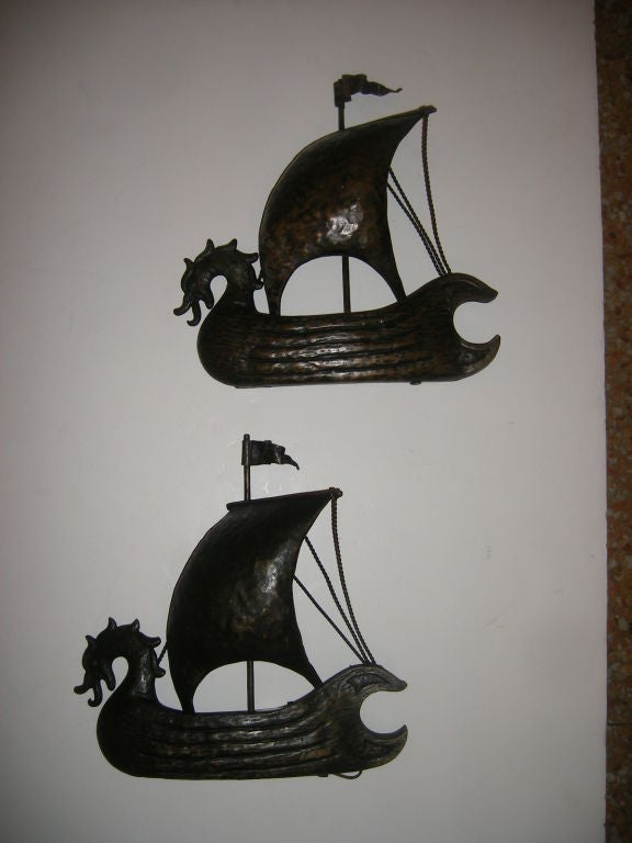Italian Boat Shaped Sconces For Sale at 1stdibs