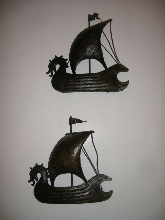 Boat Wall Lights : Italian Boat Shaped Sconces For Sale at 1stdibs