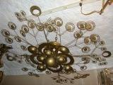 Italian Patinated Brass Light Fixture image 3