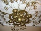 Italian Patinated Brass Light Fixture image 5