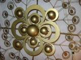 Italian Patinated Brass Light Fixture image 4