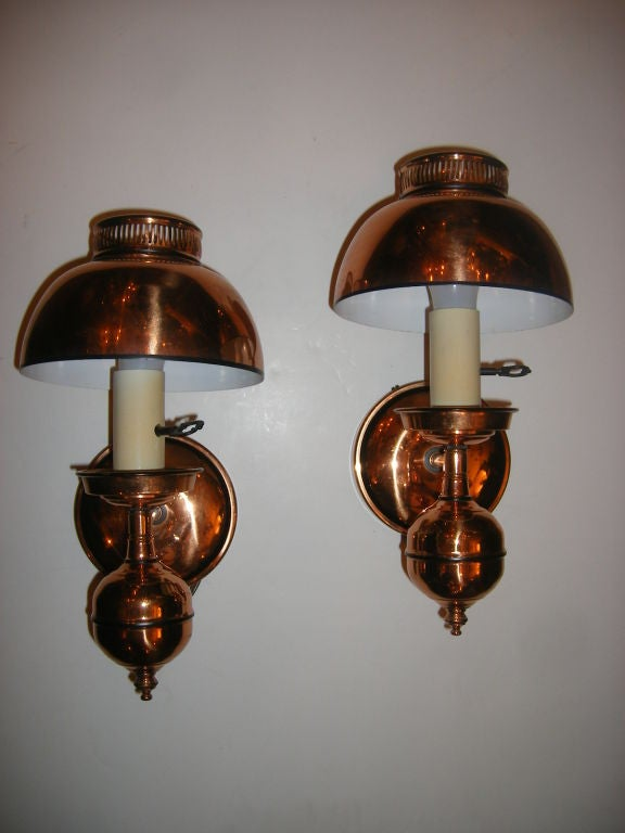 Copper Sconces with Shades For Sale at 1stdibs