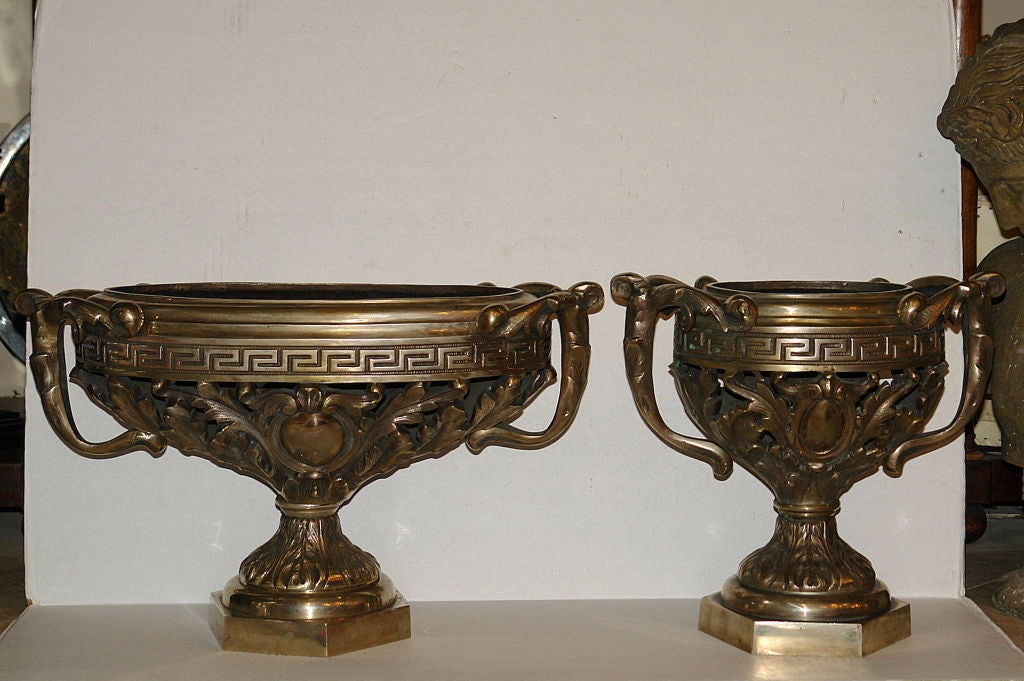 Set of Silvered Cachepots For Sale 1