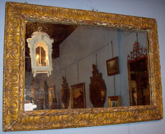 17th century italian framed mirror at 1stdibs for 17th century mirrors