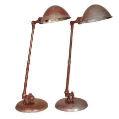 Vintage O.C. White Adjustable Task Desk Lamp, Light