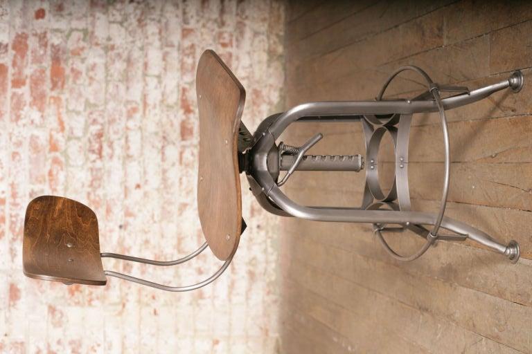 Vintage Bent Plywood Toledo Stool At 1stdibs