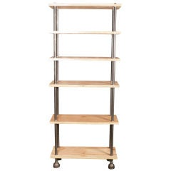 Shelving Unit, Storage Bookcase Industrial Style