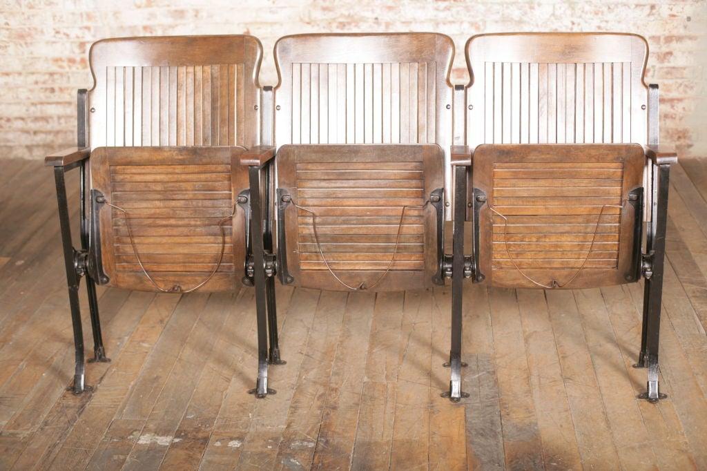 Heywood - Wakefield Open End Wood & Cast Iron Theater Seats 5