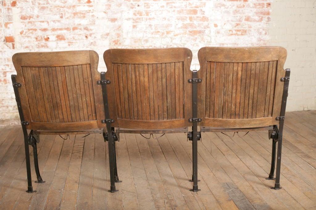 Heywood - Wakefield Open End Wood & Cast Iron Theater Seats 7
