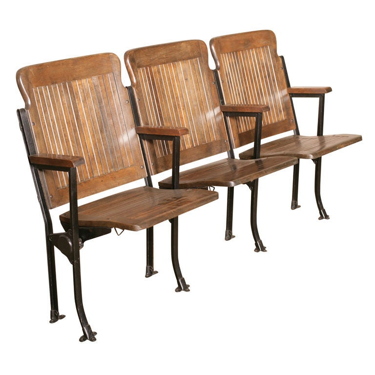 Heywood - Wakefield Open End Wood & Cast Iron Theater Seats