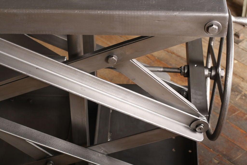 Original Vintage Industrial Adjustable Scissor Lift