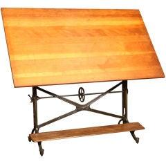 """Vintage """"American Eagle"""" Adjustable Drafting Table"""