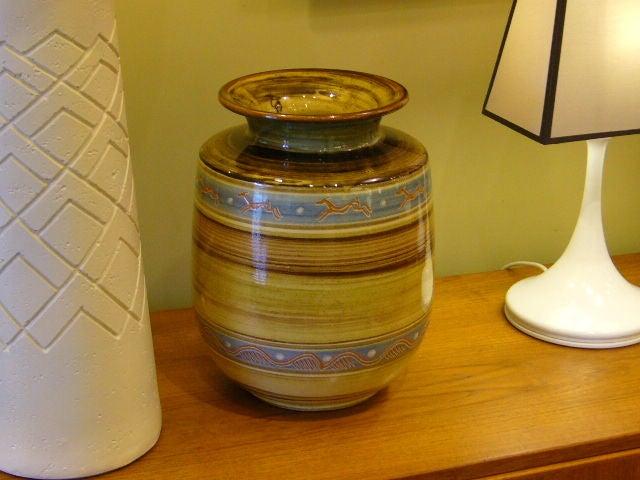 large harald folmer gross floor vase for knabstrup for sale at 1stdibs. Black Bedroom Furniture Sets. Home Design Ideas