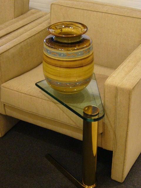 large harald folmer gross floor vase for knabstrup at 1stdibs. Black Bedroom Furniture Sets. Home Design Ideas