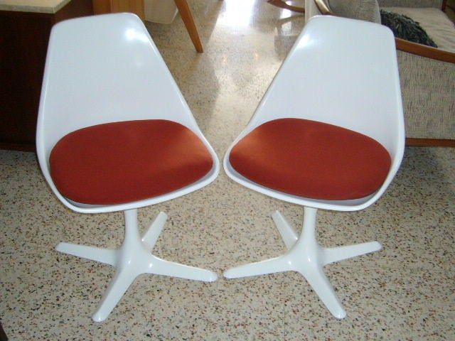 Pair Of Iconic Burke Tulip Chairs For Sale 6