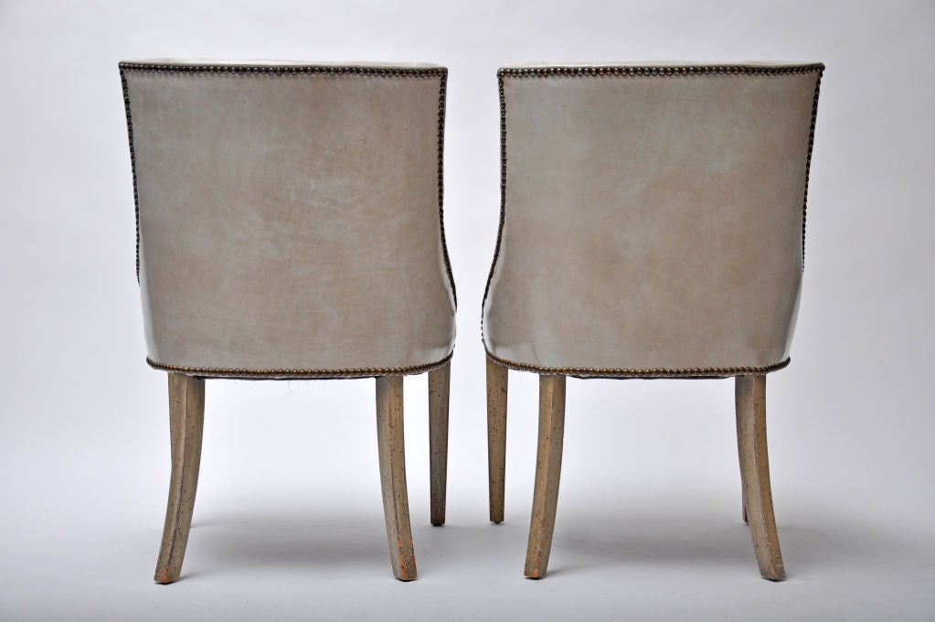 Pair Of Mid Century Leather Chairs At 1stdibs