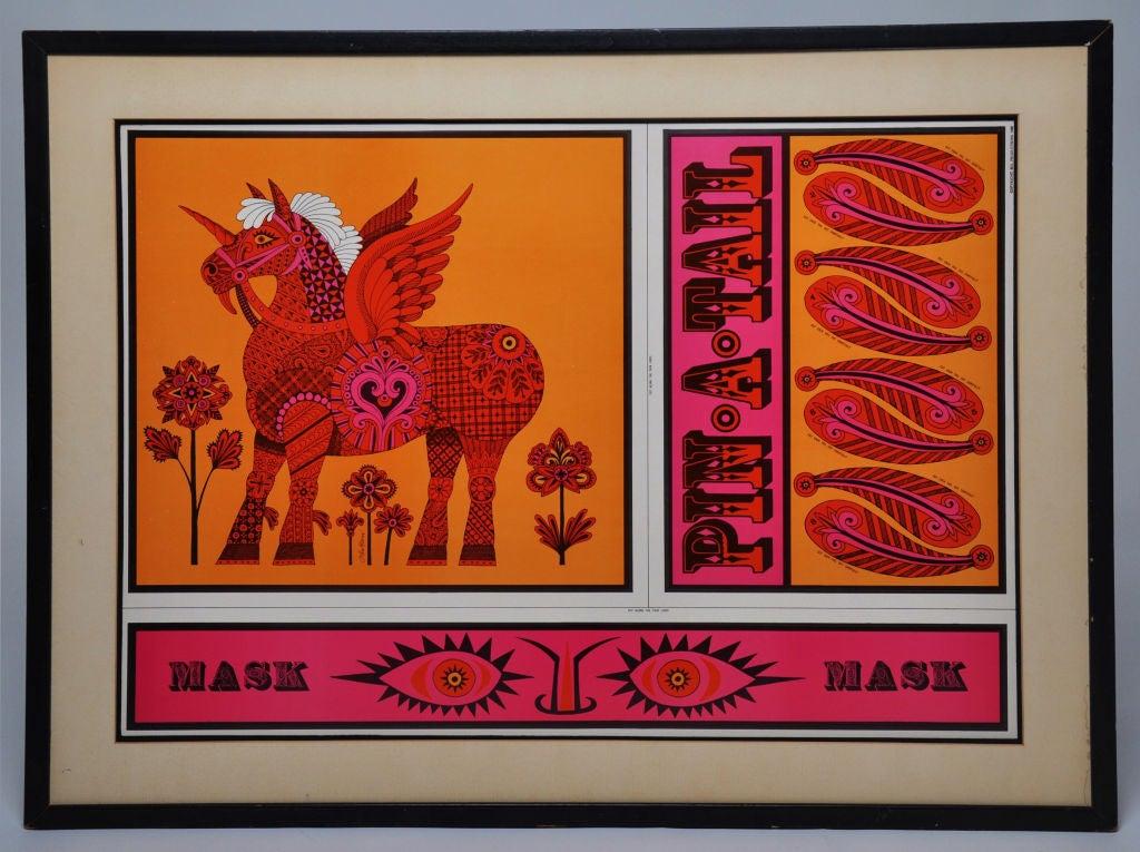 American John Alcorn Lithograph Pin A Tail For Sale