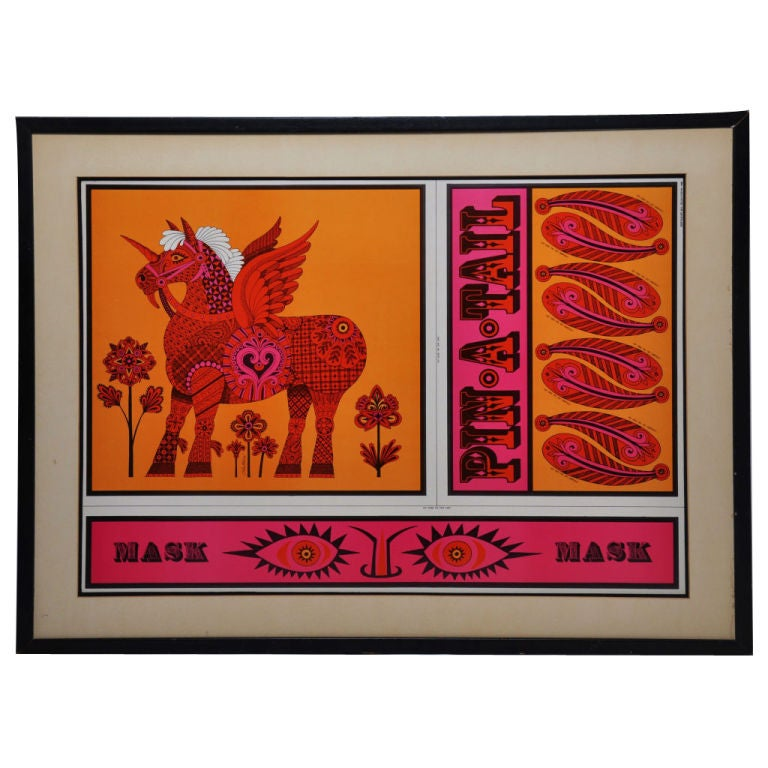 John Alcorn Lithograph Pin A Tail For Sale