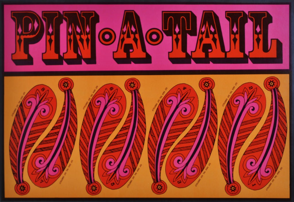 Paper John Alcorn Lithograph Pin A Tail For Sale