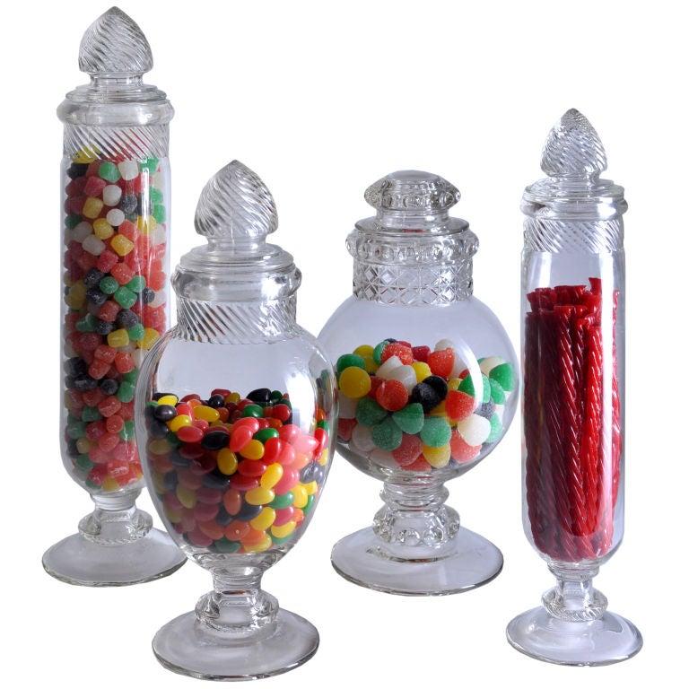 Vintage Necco Glass Candy Jar