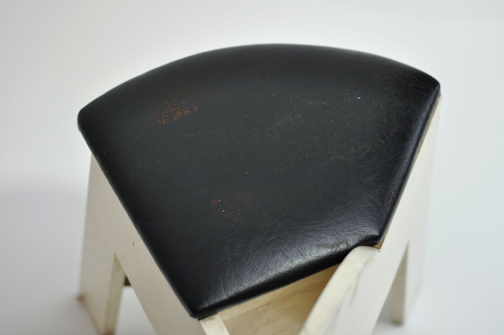 1950s Crossed Legs Stool At 1stdibs