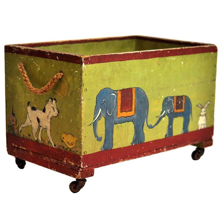 children 39 s toy box on wheels at 1stdibs. Black Bedroom Furniture Sets. Home Design Ideas