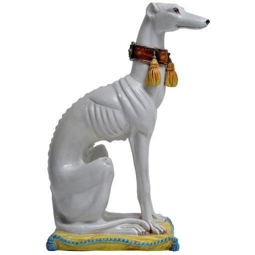 ITALIAN CERAMIC WHIPPET DOG CIRCA 1960S