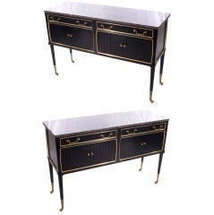 Pair of Marble Top Commodes Stamped Jansen
