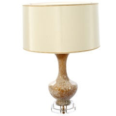 Unusual Gold and White Vintage Murano Lamp