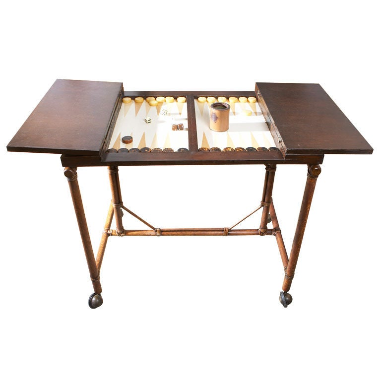 Mcguire vintage backgammon table at 1stdibs for 10 games in 1 table