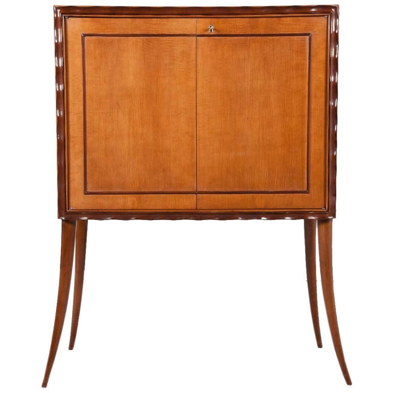 Paolo buffa dry bar liquor cabinet at 1stdibs for Home dry bar furniture