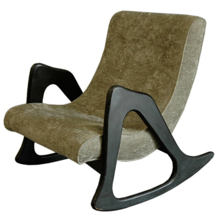 Scoop Rocking Chair Adrian Pearsall For Craft Pair Avail