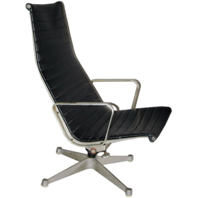 herman miller aluminum group leather desk chair at 1stdibs