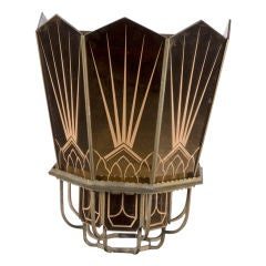 Monumental Art Deco Mirrored Wall Sconces