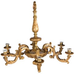 Regency Style Bronze Chandelier