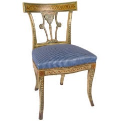 Italian Polychrome Decorated Side Chair