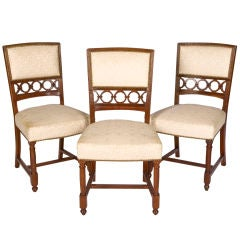 Set of Three Maison Jansen Side Chairs