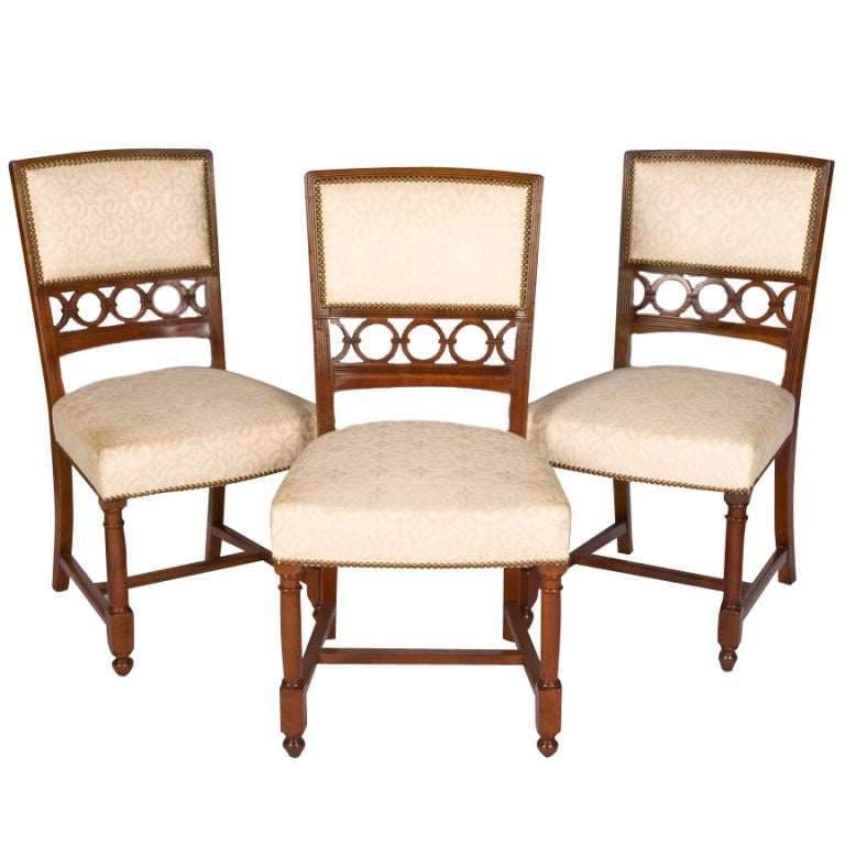 Set Of Three Maison Jansen Side Chairs For Sale At 1stdibs