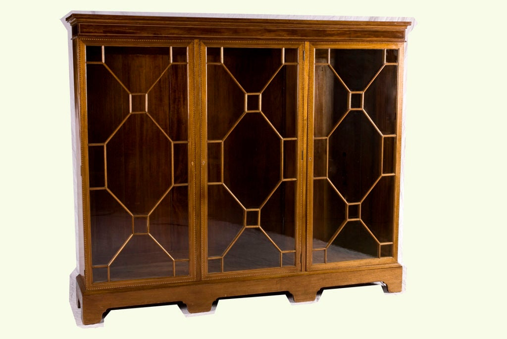 Chippendale Glass Fronted Bookcase For Sale At 1stdibs