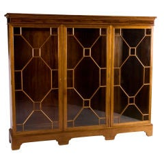 Chippendale Glass Fronted Bookcase