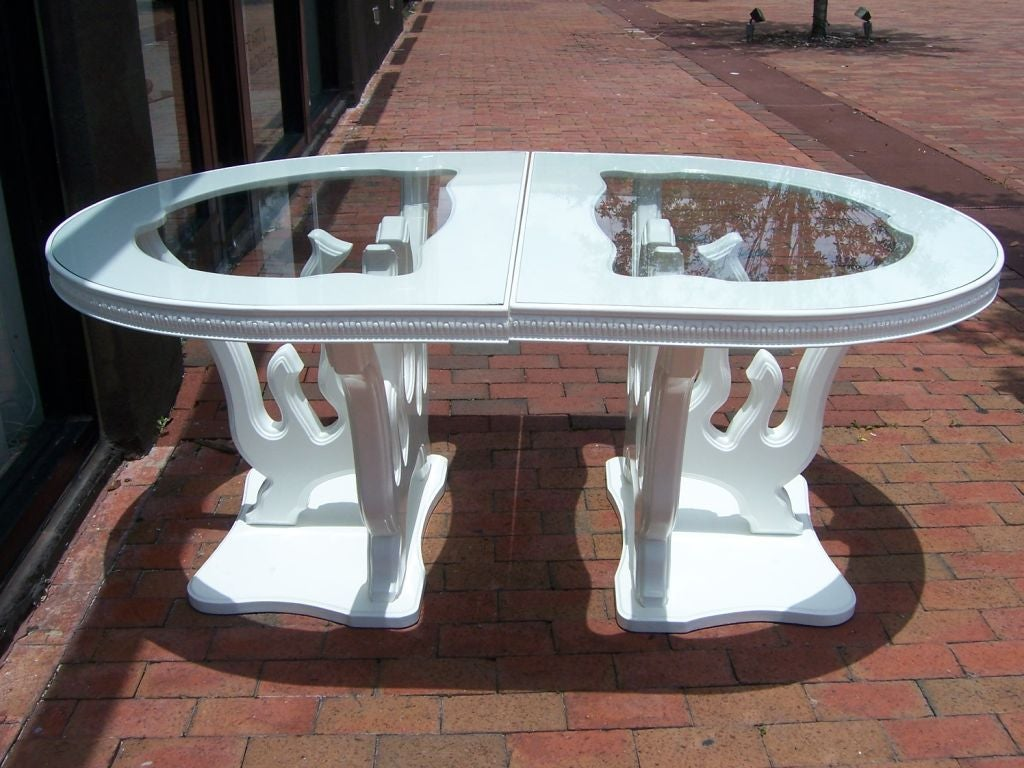hollywood regency coral branch dining table at 1stdibs. Black Bedroom Furniture Sets. Home Design Ideas