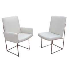 Set of 10 Milo Baughman Dining Chairs