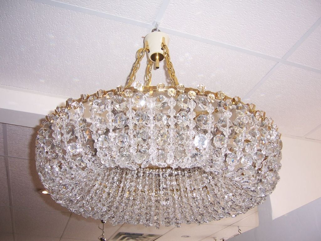 Impressive 1930s austrian crystal chandelier at 1stdibs polished impressive 1930s austrian crystal chandelier for sale mozeypictures