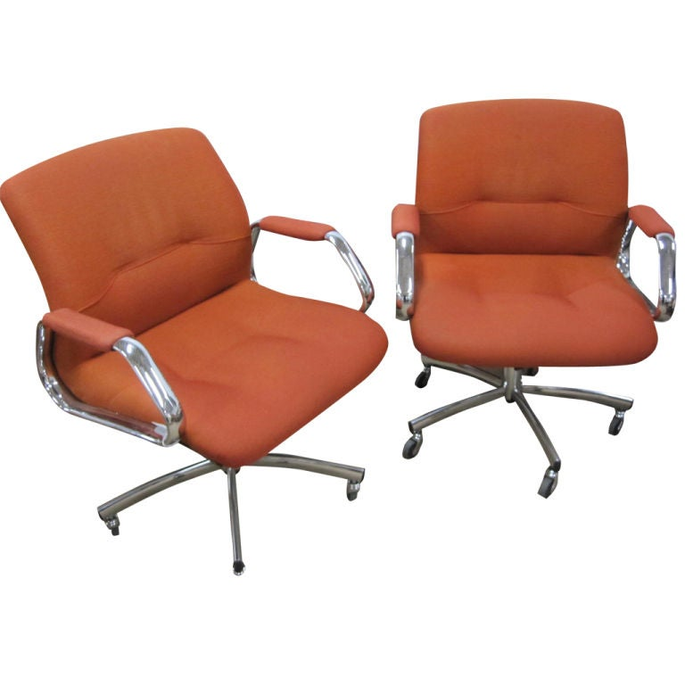 Steelcase Swivel Desk Chair Two Available at 1stdibs