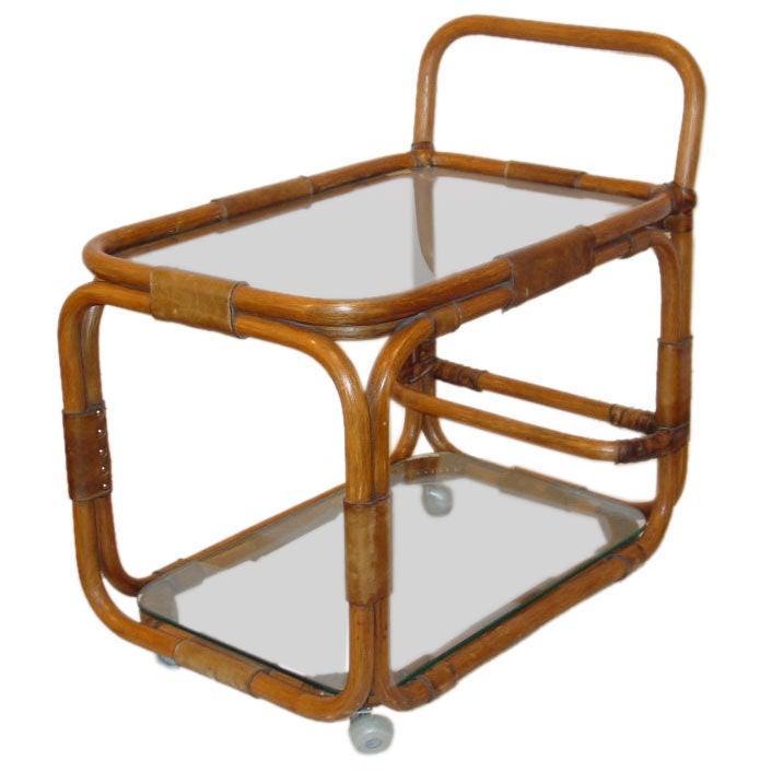 Rattan Serving Cart / Bar Cart